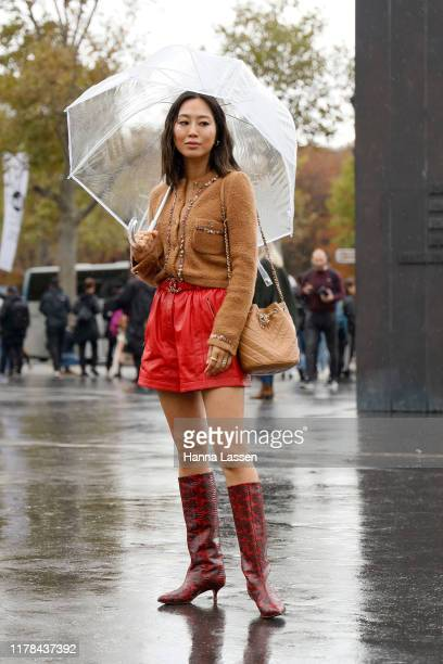 Amiee Song wearing Chanel outside Chanel during Paris Fashion Week Womenswear Spring Summer 2020on October 01 2019 in Paris France