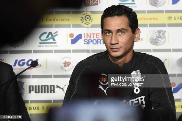 Amiens' new player Brazilian player Paulo Henrique Ganso gives a press conference on September 7 2018 in Amiens during his offical presentation Ganso...