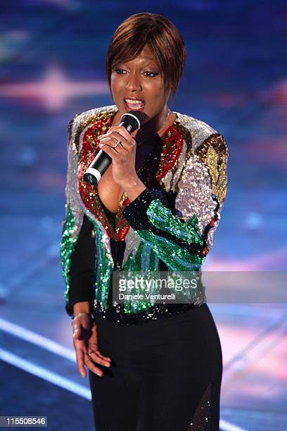 Amii Stewart during 57th San Remo Music Festival - Day 3 at Teatro Ariston in Sanremo, Italy.