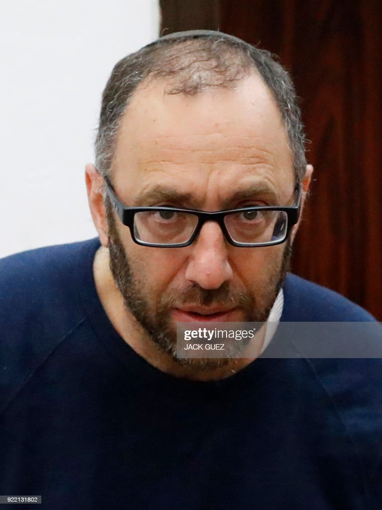 Amikam Shorer form the Israeli Bezeq telecommunication company, appears in the Israeli Justice Court in Tel Aviv in one of the graft probes threatening the Israeli prime minister on February 21, 2018. /
