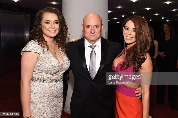 Amiko Kauderer and astronaut Scott Kelly attend 2016 Time 100 Gala Time's Most Influential People In The World Cocktails at Jazz At Lincoln Center at...