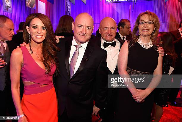 Amiko Kauderer astronaut Mark Kelly astronaut Scott Kelly and Gabrielle Giffords attend the 2016 Time 100 Gala Time's Most Influential People In The...