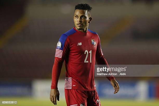Amilcar Henriquez of Panama during the Copa Centroamericana 2017 tournament between Panama and Honduras at Estadio Rommel Fernandez on January 17...