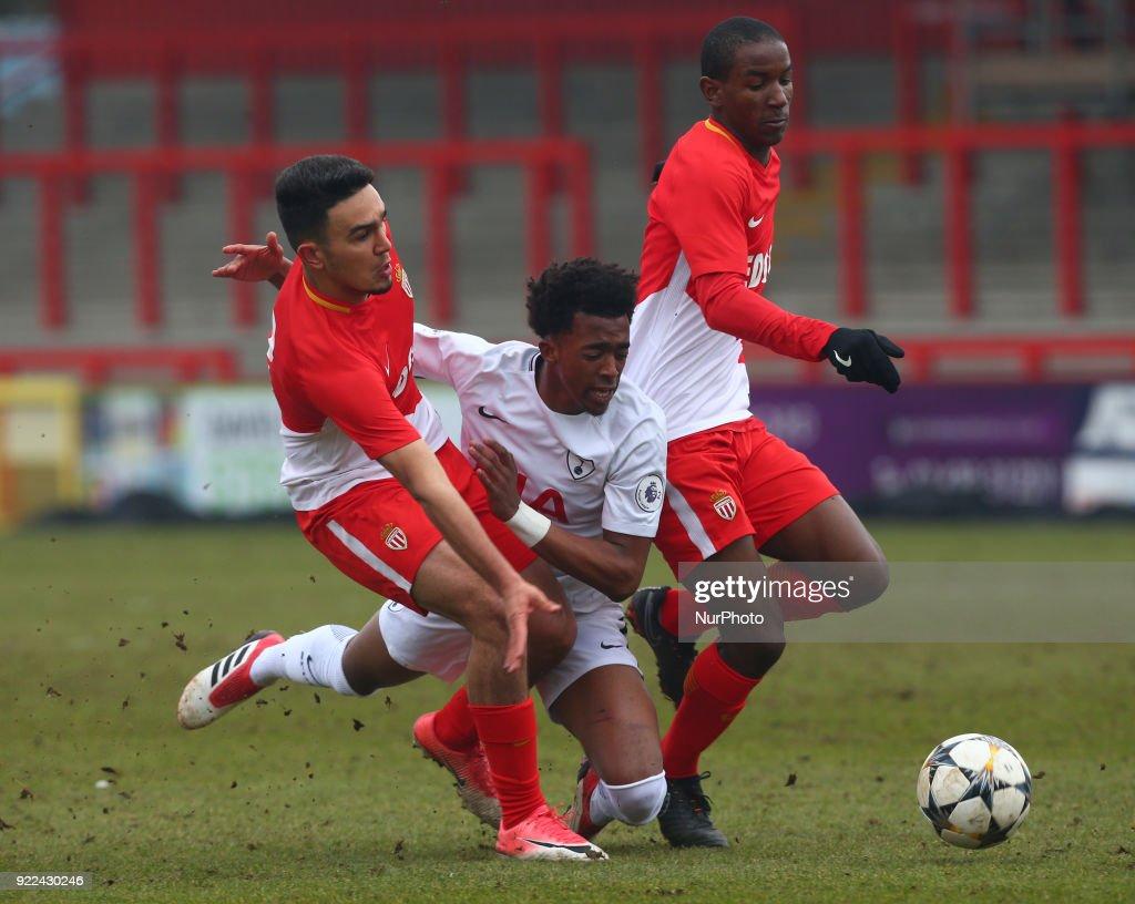 Tottenham Hotspur U19 v Monaco U19: UEFA Youth League : Nyhetsfoto