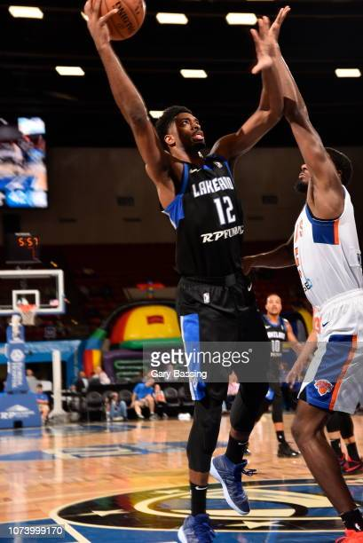 Amile Jefferson of the Lakeland Magic drives to the basket during the game against the Westchester Knicks on November 10, 2018 at RP Funding Center...