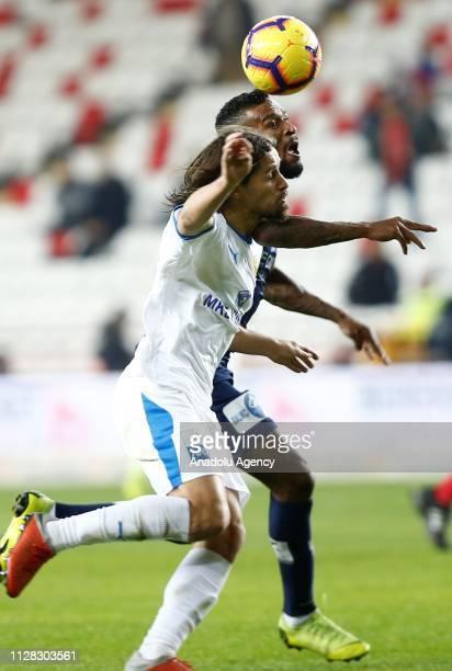 Amilton Minervino da Silva of Antalyaspor in action during Turkish Super Lig soccer match between Antalyaspor and MKE Ankaragucu at Antalya Stadium...