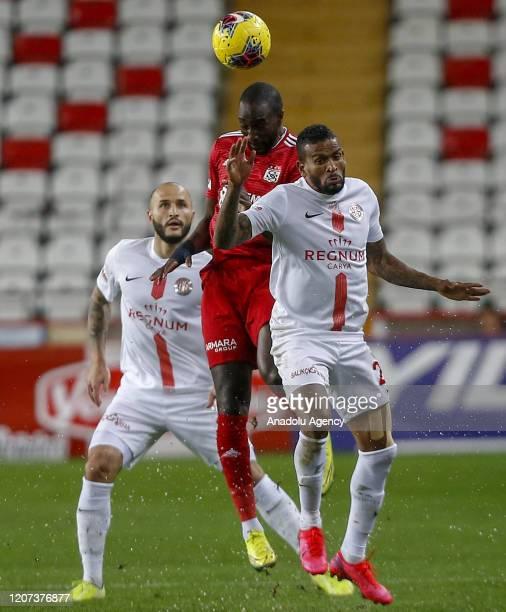 Amilton of Antalyaspor in action during the Turkish Super Lig week 26 football match between Fraport TAV Antalyaspor and Demir Grup Sivasspor, played...