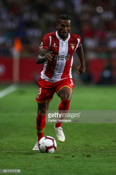 Amilton Silva of Desportivo das Aves during the match between FC Porto and Desportivo das Aves for the Portuguese Super Cup at Estadio Municipal de...