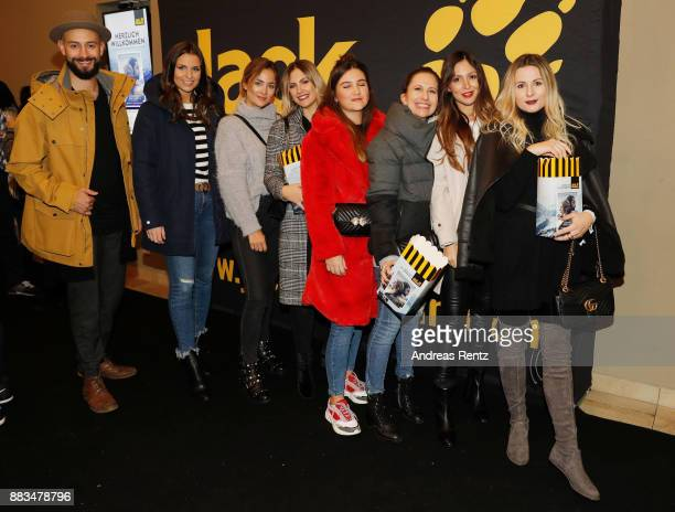Amin Afifiy Laura Wontorra guest Franzi Froehlich Mira Michi Brandl Kira Bejaoui and Natalie Oettgen attend the exclusive preview of 'Zwischen zwei...