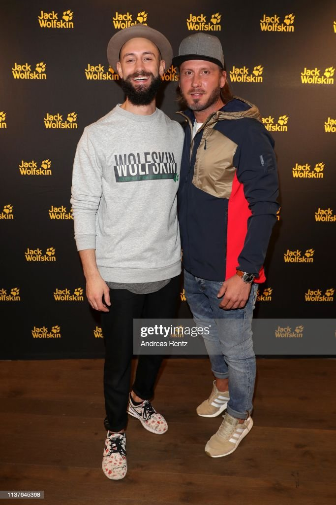 new product 298b2 9be7d Amin Afify and Guerel Sahin attend the Jack Wolfskin Spring ...