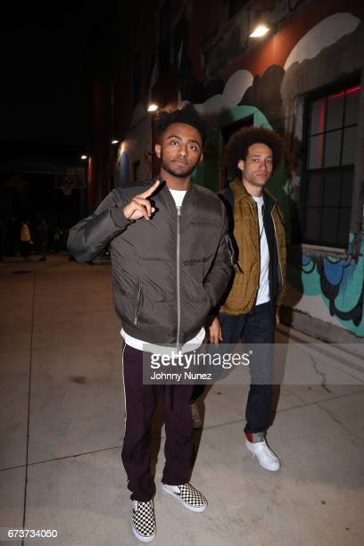 Aminé attends the Inside Wale's 'Shine' Listening Event at Genius Event Space on April 26 2017 in New York City