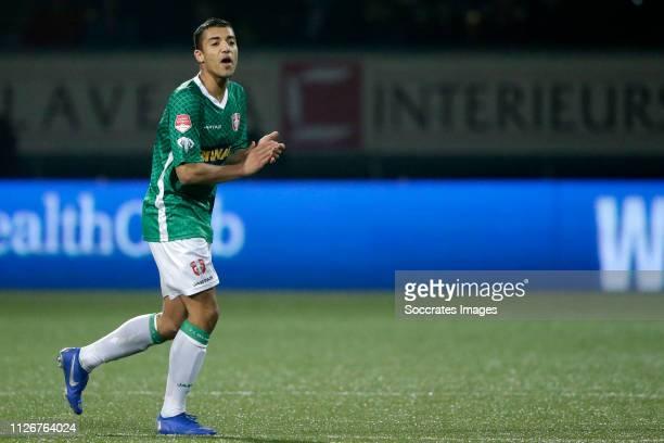 Amin Jeddaoui of FC Dordrecht during the Dutch Keuken Kampioen Divisie match between SC Cambuur v FC Dordrecht at the Cambuur Stadium on February 22...