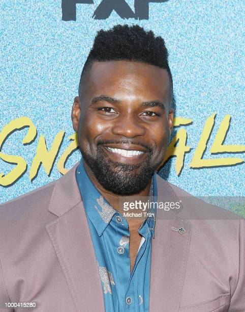 Amin Joseph arrives to the Los Angeles premiere of FX's 'Snowfall' Season 2 held at Regal Cinemas LA LIVE Stadium 14 on July 16 2018 in Los Angeles...