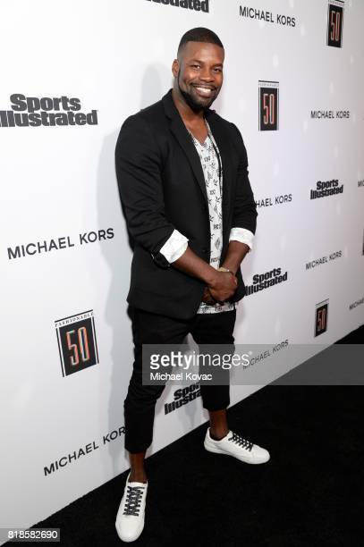 Amin Joseph at Sports Illustrated 2017 Fashionable 50 Celebration at Avenue on July 18 2017 in Los Angeles California