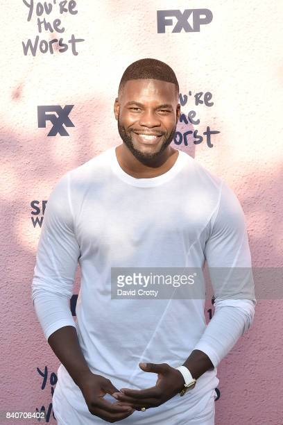 Amin Joseph attends the Premiere Of FXX's 'You're The Worst' Season 4 Arrivals at Museum of Ice Cream LA on August 29 2017 in Los Angeles California