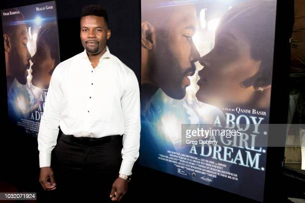 Amin Joseph attends the Premiere Of Samuel Goldwyn Films' 'A Boy A Girl A Dream' at ArcLight Hollywood on September 11 2018 in Hollywood California