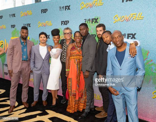 Amin Joseph Filipe Valle Costa Angela Lewis Alon Moni Aboutboul Michael Hyatt Damson Idris Carter Hudson Malcolm Mays and John Singleton arrive to...