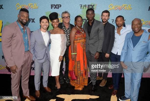 Amin Joseph Filipe Valle Costa Angela Lewis Alon Moni Aboutboul Michael Hyatt Damson Idris Carter Hudson Malcolm Mays and John Singleton arrive at...