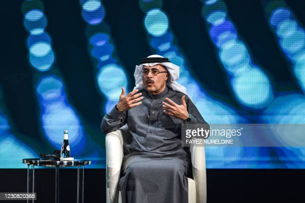 Amin Nasser, president and chief executive officer of Saudi Aramco, speaks during the fourth edition of the Future Investment Initiative conference...