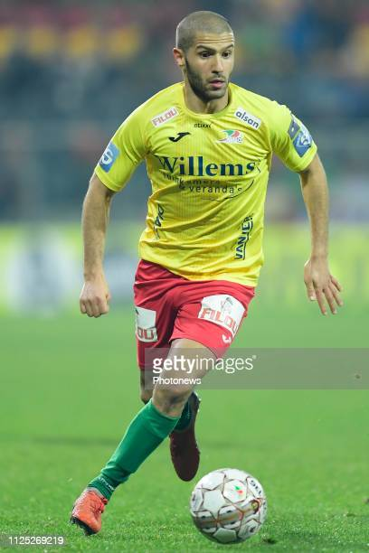 Amin Nouri midfielder of Oostende in action during the Jupiler Pro League match between KV Oostende and KAS Eupen at the Versluys Arena on February...