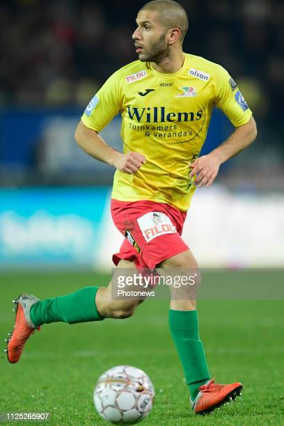 Amin Nouri midfielder of Oostende pictured during the Jupiler Pro League match between KV Oostende and KAS Eupen at the Versluys Arena on February 16...