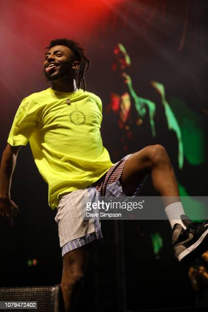 Aminé performs on stage during FOMO By Night Festival at Spark Arena on January 9 2019 in Auckland New Zealand