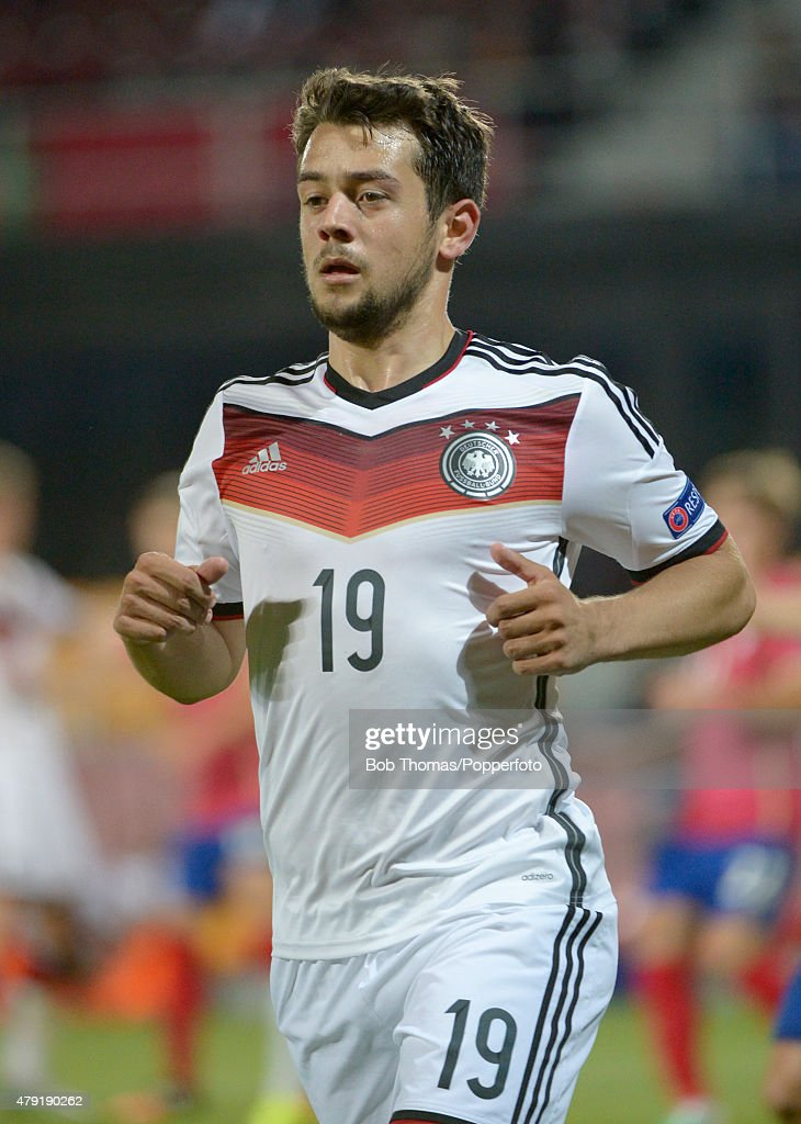 Amin Younes in action for Germany during the UEFA European Under-21 Group A match between Germany and Serbia at Letna Stadium on June 17, 2015 in Prague, Czech Republic. The match was drawn 1-1. (Photo by Bob Thomas/Popperfoto/Getty Images).