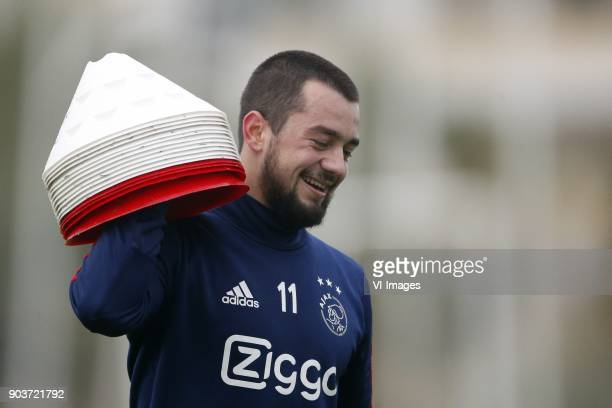Amin Younes of Ajax during a training session of Ajax Amsterdam at the Cascada Resort on January 09 2018 in Lagos Portugal