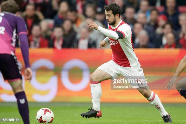 Amin Younes of Ajax during the Dutch Eredivisie match between Ajax v FC Utrecht at the Johan Cruijff Arena on November 5 2017 in Amsterdam Netherlands