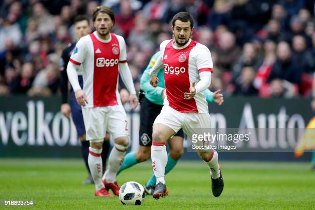 Amin Younes of Ajax during the Dutch Eredivisie match between Ajax v Fc Twente at the Johan Cruijff Arena on February 11 2018 in Amsterdam Netherlands