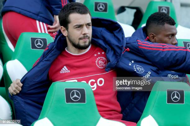 Amin Younes of Ajax during the Dutch Eredivisie match between PEC Zwolle v Ajax at the MAC3PARK Stadium on February 18 2018 in Zwolle Netherlands