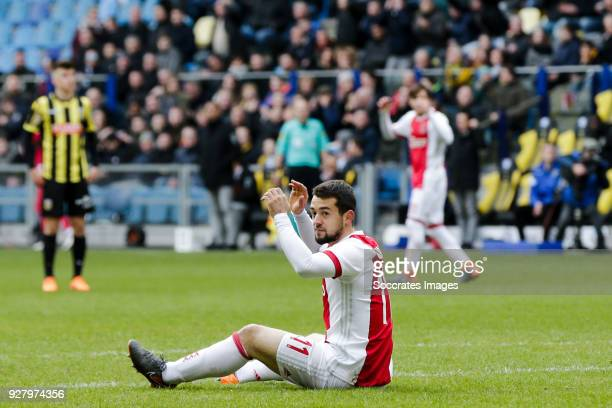 Amin Younes of Ajax during the Dutch Eredivisie match between Vitesse v Ajax at the GelreDome on March 4 2018 in Arnhem Netherlands