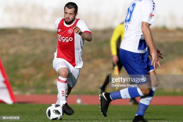 Amin Younes of Ajax during the match between Ajax v MSV Duisburg at the Estadio Municipal on January 13 2018 in Albufeira Portugal