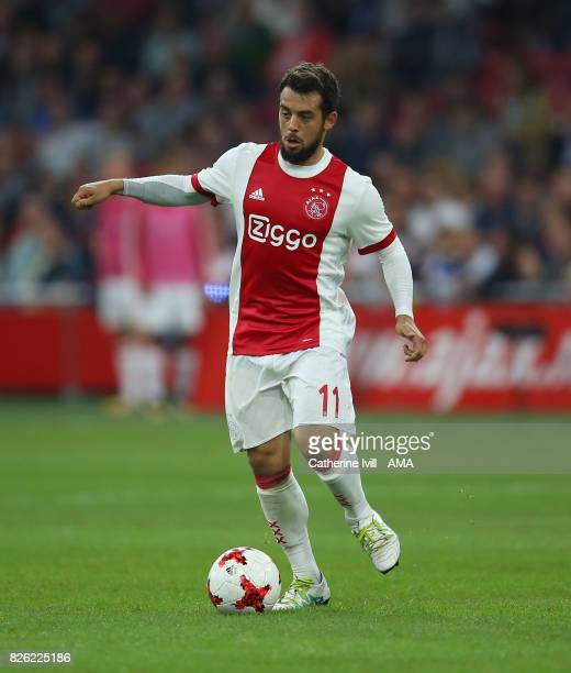 Amin Younes of Ajax during the UEFA Champions League Qualifying Third Round match between Ajax and OSC Nice at Amsterdam Arena on August 2 2017 in...