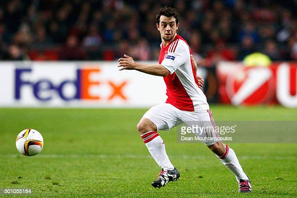 Amin Younes of Ajax in action during the group A UEFA Europa League match between AFC Ajax and Molde FK held at Amsterdam Arena on December 10 2015...