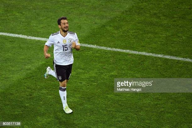Amin Younes of Germany celebrates scoring his side's fourth goal during the FIFA Confederations Cup Russia 2017 SemiFinal between Germany and Mexico...