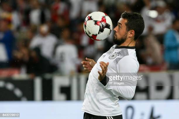 Amin Younes of Germany controls the ball during the FIFA 2018 World Cup Qualifier between Germany and Norway at MercedesBenz Arena on September 4...