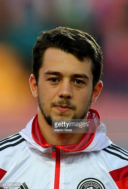 Amin Younes of Germany looks on before the UEFA European Under21 Group A match between Germany and Serbia at Letna Stadium on June 17 2015 in Prague...