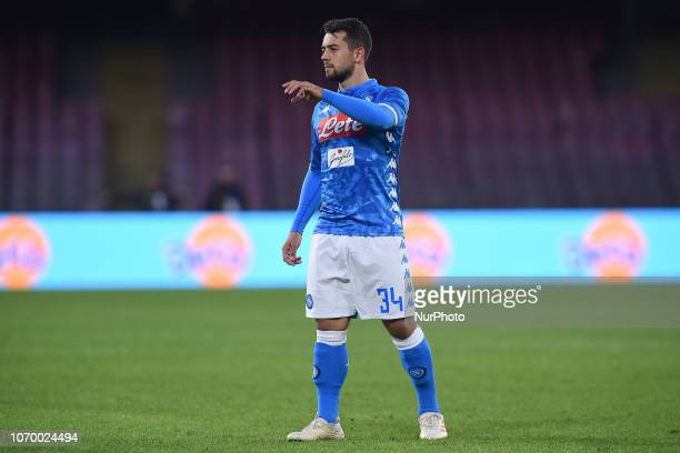 Amin Younes of SSC Napoli during the Serie A TIM match between SSC Napoli and Frosinone Calcio at Stadio San Paolo Naples Italy on 8 December 2018
