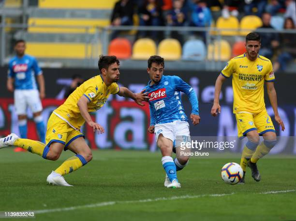 Amin Younes of SSC Napoli scores the team's second goal during the Serie A match between Frosinone Calcio and SSC Napoli at Stadio Benito Stirpe on...