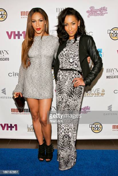 Amina Buddafly and Jazz Buddafly appear at the VH1 Love Hip Hop Season 4 Premiere at Stage 48 on October 28 2013 in New York City