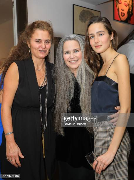 Amina Ricciardi Dempsey Tatiana Stark and Koo Stark attend a private view of Koo Stark's exhibition 'Kintsugi Portraits' at Galleria San Lorenzo on...