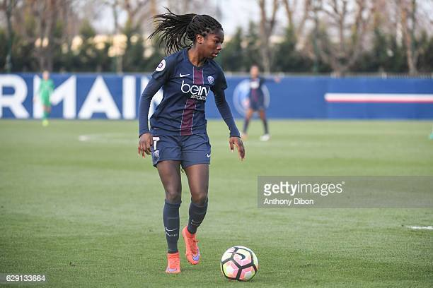 Aminata Diallo of PSG during the French Division 1 match between Paris Saint Germain and Juvisy at Camp des Loges on December 10 2016 in Paris France