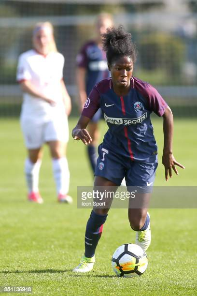 Aminata Diallo of PSG during the French Women's Division 1 match between ParisSaint Germain and Lille at Camp des Loges on September 24 2017 in Paris...