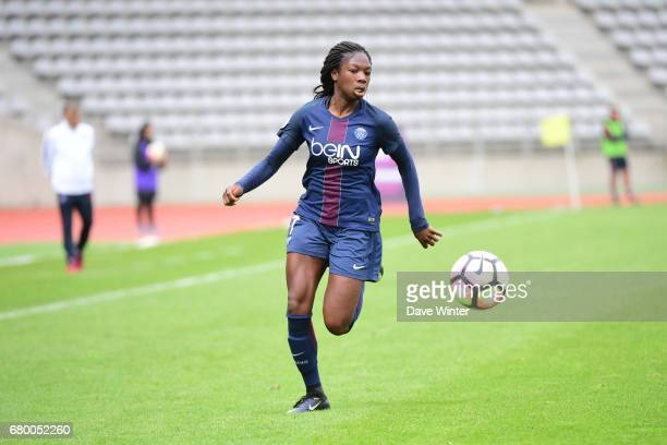 Aminata Diallo of PSG during the Women's Division 1 match between Paris Saint Germain and Asptt Albi on May 7 2017 in Paris France