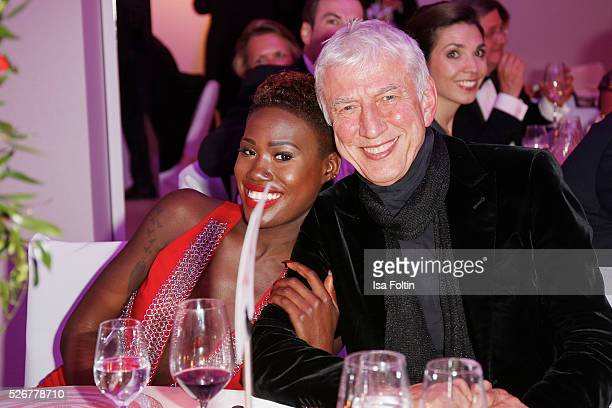 Aminata Sanogo and guest during the Rosenball 2016 on April 30 2016 in Berlin Germany