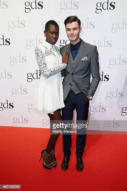 Aminata Sanogo and PaulHenry Duval attends the GDS Grand Opening Party on February 4 2015 in Duesseldorf Germany