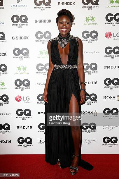 Aminata Sanogo arrives at the GQ Men of the year Award 2016 at Komische Oper on November 10 2016 in Berlin Germany