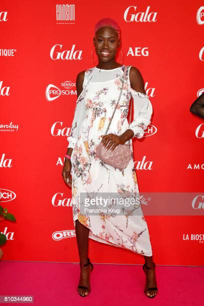 Aminata Sanogo attends the Gala Fashion Brunch during the MercedesBenz Fashion Week Berlin Spring/Summer 2018 at Ellington Hotel on July 7 2017 in...