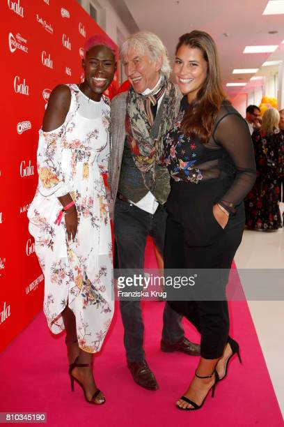 Aminata Sanogo Ted Linow and Celine Denefleh attend the Gala Fashion Brunch during the MercedesBenz Fashion Week Berlin Spring/Summer 2018 at...